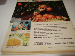 ANCIENNE PUBLICITE HIER SUR L ARBRE ORANGE 1959 - Affiches
