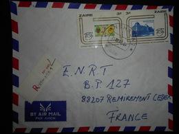 Zaire Lettre Recommandee De Kinshasa 1983 Pour Remiremont - Zaïre