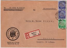 "1936, Pol-Lochung "" Berlin "" Ins Ausland R! , #a1369 - Dienstpost"