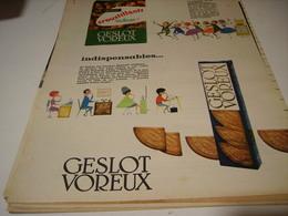 ANCIENNE PUBLICITE  POUR APERITIF GESLOT VOREUX 1959 - Affiches