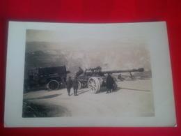 CARTE PHOTO RICORDO DEL COL D ASIAGO ET COL DEL LAMPO CANONE GRANDE PORTA 1918 - Italy