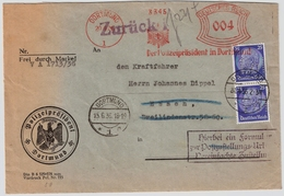 """1936, Pol-Lochung """" Dortmund """" Zustellurkunde, #a1370 - Service"""