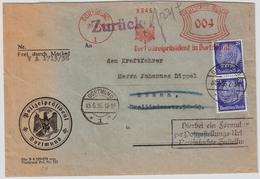"1936, Pol-Lochung "" Dortmund "" Zustellurkunde, #a1370 - Officials"