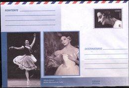 POSTAL STATIONERY, MINT, PREPAID ENVELOPE, DANCING, BALLET, ALICIA ALONSO - Art