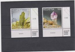SWITZERLAND -SCHWEIZ-SUISSE - 2014 - International Year Of Crystallography Set 2 Stamps MNH - Switzerland