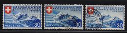 Switserland 1939, Same Stamp But 3 Different Languages, Vfu. Cv 25 Euro - Switzerland