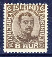 +D3178. Iceland 1920. King Christian X. Michel 88. MNH(**) - 1918-1944 Autonomous Administration