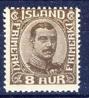 +D3180. Iceland 1920. King Christian X. Michel 88. MNH(**) - 1918-1944 Autonomous Administration