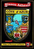Carte Postale Blason Adhésif (Villes Et Provinces De France 376)   CÔTE D'AZUR - Postcards