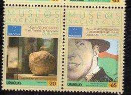 URUGUAY,2018, MNH,MUSEUMS, ART, BICYCLES, 2v - Museums