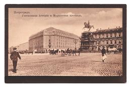 CPA Russie, Pétrograd, Hôtel Astoria Et Place Marinsky, Петроград - Russie