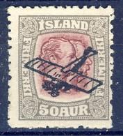 +D3182. Iceland 1920. Airmail Surprint. Michel 123. MNH(**) - Airmail