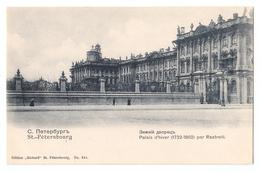 CPA St. Pétérsbourg, Palais D'hiver (1732-1862) Par Rastrelli, С.-Петербургъ - Russia