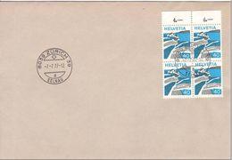 Zürich, CACHET 7.7.77, Bloc De 4 Timbres Y&T No. 938; Lot 1026 - Switzerland