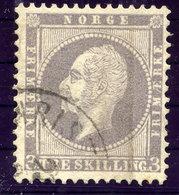 NORWAY 1857 King Oscar 3 Sk. Used.  Michel 3 - Norway