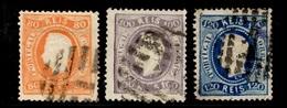 Portugal YT N° 31, N° 32 Et N° 33 Oblitérés. B/TB. A Saisir! - 1862-1884 : D.Luiz I