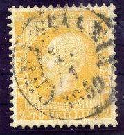 NORWAY 1857 King Oscar 2 Sk. Orange-yellow  Used.  Michel 2 - Norway