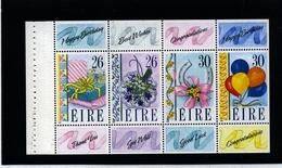 IRELAND/EIRE - 1990  GREETINGS BLOCK EX BOOKLET  MINT NH - Blocchi & Foglietti