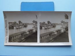 BAYONNE : Vue Sur L'Adour Price De La Place.... : S. 57 - 3416 ( Maison De La Bonne Presse VUES De FRANCE ) Stereo Photo - Stereoscoop