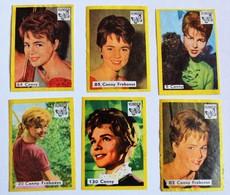 Rare 6 Images Chanteuse Cornelia Froboess Musique Schlager Card Vlinder Match Cover Film, TV, And Music Stars - Objets Dérivés