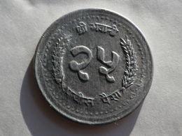 Nepal  25 Paisa 1991  Vs 2048   Km#1015.1  Birendra Bir Bikram   Grand Module  Aluminium    TTB - Népal