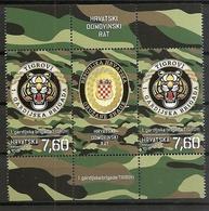 "CROATIA 2018 ,MILITARY 1st BRIGADE ""TIGROVI"" ""TIGERS"",CROATIAN ARMY,VIGNETTE,COAT OF ARMS,, ,MNH - Croatie"
