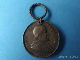 MEDAGLIE PAPALI  Pio IX° Anno 1877 - Italy