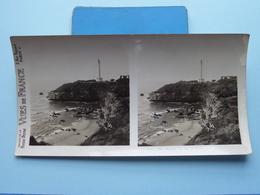 BIARRITZ : Le Cap St. Martin Et Le Plage : S. 52 - 3368 ( Maison De La Bonne Presse VUES De FRANCE ) Stereo Photo - Photos Stéréoscopiques