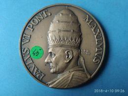 MEDAGLIE PAPALI  Paolo VI° Pontefice Massimo - Italy