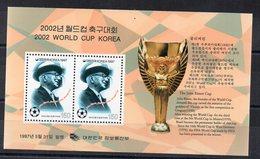BLOC FEUILLET - MINIATURE SHEET - COREE DU SUD - SOUTH KOREA - FOOTBALL - SOCCER - WORLD CUP KOREA 2002 - 1997 - - Corée Du Sud