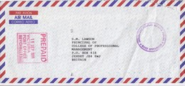 COVER SEYCHELLES. PREPAID. SEYCHELLES PEOPLES DEFENCE FORCES TO JERSEY GB - Seychelles (1976-...)