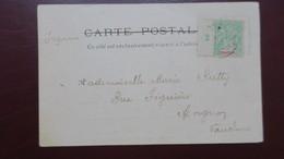 CPA De Hué ( Enterrement ) 1903 Tarif Imprimé 5 Ct Vert Type Groupe Millesime 2 Pour Avignon - Indochine (1889-1945)