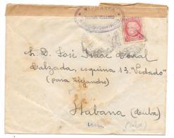 LETTRE D'ESPAGNE POUR LA HAVANE  HABANA..CENSURE VALENCIA.1937... N°687..  VOIR SCAN - 1931-Today: 2nd Rep - ... Juan Carlos I