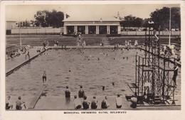 RHODESIA. MUNICIPAL SWIMMING BATHS, BULAWAYO. MAILLOT SWIMSUIT SWIMPOOL. CIRCULEE 1927 A BELGIUM 2 COLOR STAMP- BLEUP - Zimbabwe