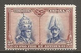 ESPAGNE - Yv. N° 344  *  25c Catacombes, Série De Tolède Cote 5,25 Euro BE   2 Scans - 1889-1931 Kingdom: Alphonse XIII