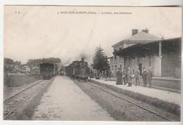 Cpa 18 Dun-sur-Auron La Gare , Vue Intérieure - Dun-sur-Auron