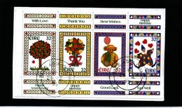 IRELAND/EIRE - 1995  GREETINGS SET BLOCK EX  BOOKLET  FINE USED - Blocchi & Foglietti