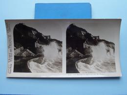 BIARRITZ : La Mer à La Côte Des Basques : S. 55 - 3396 ( Maison De La Bonne Presse VUES De FRANCE ) Stereo Photo - Stereoscopic