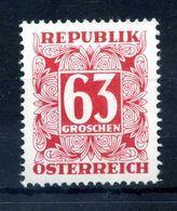 1949 AUSTRIA SEGNATASSE N.238AA (CARTA E GOMMA GIALLA) ** - Taxe