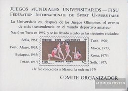 Mexiko Block23 (kompl.Ausg.) Postfrisch 1979 Universiade - Messico
