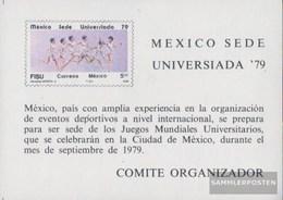 Mexiko Block22 (kompl.Ausg.) Postfrisch 1979 Universiade - Messico