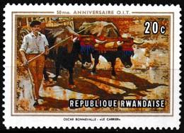 Timbre-poste Gommé Neuf** - Le Carrier Quarry Worker Oscar Bonnevalle - N° 330 (Yvert) - République Rwandaise 1969 - Rwanda