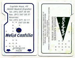 Spanien / Spain Hotelkarte / Keycard  Vom Melia Hotel Castilla In Madrid - Hotelkarten