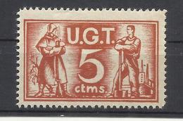 9084-SELLO VIÑETA GUERRA CIVIL U.G.T. 2ª REPUBLICA.NUEVO ** MILITARIA. - Republican Issues