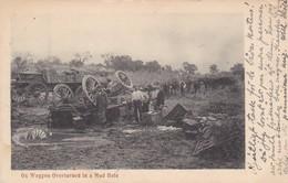 ZIMBABWE, RHODESIA. OX WAGGON OVERTURNED IN A MUD HOLE. JOHN G BAIN. CIRCULEE 1910 A SWEDEN. UNIQUE-RARISIME- BLEUP - Rampen