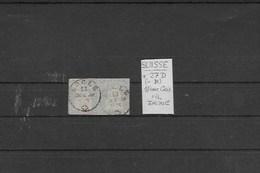 Suisse Paire Du 1 Fr Gris Fil Jaune N° 31A - 1854-1862 Helvetia (Imperforates)