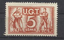9082A-SELLO VIÑETA GUERRA CIVIL U.G.T. 2ª REPUBLICA.NUEVO ** MILITARIA. - Spanish Civil War Labels