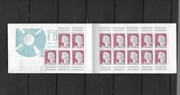 Carnet De Timbres Neufs Xx Marianne De Decaris Manque 5 Timbres - Booklets