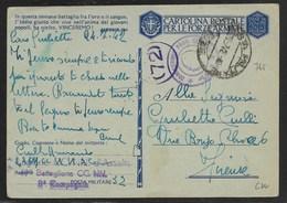 DA P.M. 32 A FIRENZE - 19° BATT.CC.NN. - 24.7.1942 - 1900-44 Vittorio Emanuele III
