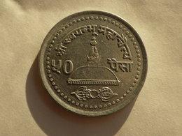 Nepal  50 Paisa 2000  Vs 2057    Km#1016 Birendra Bir Bikram   Aluminiuml    TTB - Népal